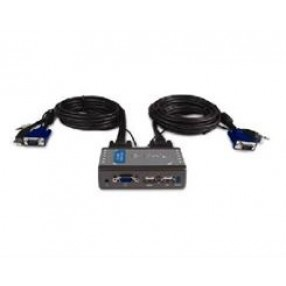 2 PORT USB KVM SWITCH W/CABLE