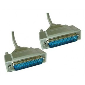 SERIAL CABLE DB25M/M 6'