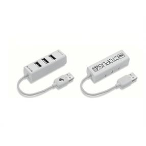 ELEPHANT 4PORT USB2.0 OCTOPUS HUB WHITE
