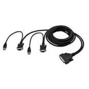BELKIN F1D9401-12 OMNIVIEW DUAL PORT CABLE USB KVM 12'