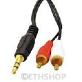 3.5MM/RCA CABLE(1 3.5 M/2 RCA M) 15'