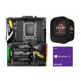 AMD Ryzen Threadripper 1950X 16-Core 3.4 GHz CPU + MSI X399 GAMING PRO CARB MB + Windows 10 Pro 64-bit  1950X + X399 + Windows 10 Pro