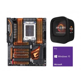 AMD RYZEN Threadripper 1920X 12-Core 3.5 GHz CPU + GIGABYTE X399 AORUS Gaming 7 MB + Windows 10 Pro 64-bit  1920X + X399 + Windows 10 Pro