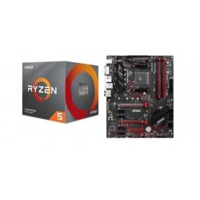 AMD Ryzen™ 5 3400G Processor, 3.7GHz w/ Radeon™ Vega 11 Graphics, 6MB Cache. MSI B450-A PRO MAX w/ DDR4-2666, 7.1 Audio, Gigabit LAN, CrossFire